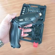 máy khoan bắt vít chạy pin cầm tay mini phiên bản mới có dây nối dài Full  bộ như hình dùng cho gia đình, thợ sửa điện tử máy tính hay điện