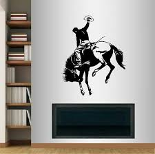 Wall Vinyl Decal Cowboy On Horse Western Boy Man Rodeo Wall Sticker 160 For Sale Online