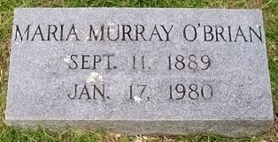 Maria Evangeline Murray O'Brian (1889-1980) - Find A Grave Memorial