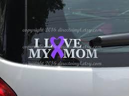 Purple Awareness Ribbon Love My Mom Decal Epilepsy Lupus Etsy