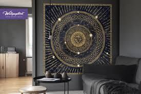 Bohemian Wall Decal Mandala Vinyl Stickers Gold Mandala Etsy