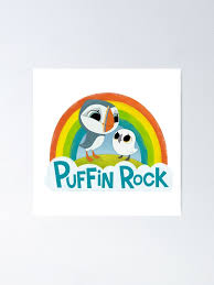 Puffin Rock Logo Poster By Puffinrock Redbubble