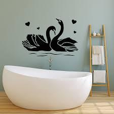Vinyl Wall Decal Couple Swans Bedroom Love Romance Birds Stickers Mura Wallstickers4you