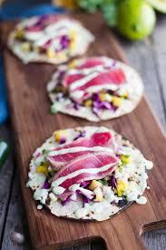 Ahi Tuna Tacos with Chunky Pineapple ...