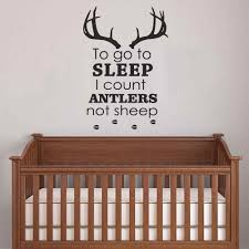 Buy Battoo Nursery Wall Decals To Go To Sleep I Count Antlers Not Sheep Boy Wall Decal Quotes Deer Antler Hunting Kids Bedroom Nursery Home Decor Black 22 H X32 W In Cheap Price On