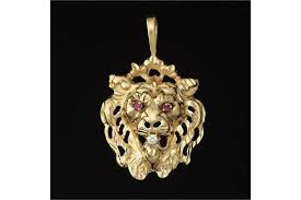 14k yellow gold pendant with large bail