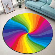 Rainbow Whirlpool Home Decor Round Carpet Yoga Area Rug Kid Child Play Floor Mat Ebay