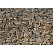 Komar 100 In X 145 In Stone Wall Mural 8 727 The Home Depot