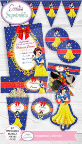 Kit Imprimible Blancanieves Cumpleanos Invitaciones Decoraci