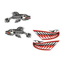 4x Big Shark Mouth Fish Skeleton Decal Sticker Kayak Boat Car Diy Graphics Archives Statelegals Staradvertiser Com