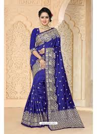 dark blue zoya art silk saree