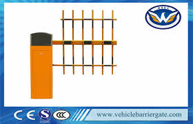 Parking Type Fence Gate Arms Barrier Gates With Manual Clutch