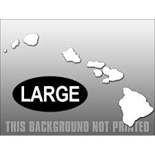 Large White Vinyl Hawaiian Islands Shaped Sticker Decal Hawaii Window Decal Size 7 X 11 Inch Walmart Com Walmart Com
