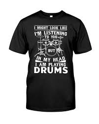 funny drummer t shirt novelty band drum