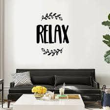 Relax Wall Art Decal Sticker Vinyl Wall Decal Thriftysigns