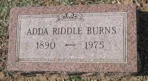 """JENKINS RIDDLE, SUSANNE ADDA """"ADDIE"""" - Sequoyah County, Oklahoma   SUSANNE  ADDA """"ADDIE"""" JENKINS RIDDLE - Oklahoma Gravestone"""