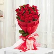 romantic red roses bouquet