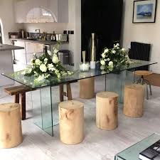 glass dining table glass coffee table