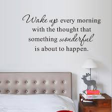 Wake Up Every Morning Inspirational Quote Wall Decal Home Wall Sticker Decor Ebay