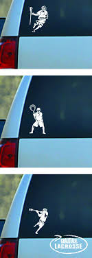 Personalize Your Car With A Lacrosse Player Car Decal Www Chalktalksport Com Lacrosse Team Gift Lacrosse Gifts Lacrosse