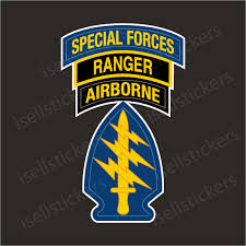 Army Special Forces Airborne Ranger Car Bumper Sticker Window Decal