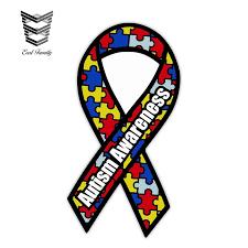 Earlfamily 13cm X 6 9cm Autism Awareness Aa Ribbon Car Truck Decal Sticker Car Window Bumper Motor Car Decals Accessories Car Stickers Aliexpress