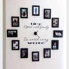 wall clock family photo gallery