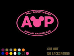 Walt Disney World Annual Passholder Decal Sticker Car Window Wall Laptop Xbox Disney Car Decals Disneyland Annual Passholder Car Stickers