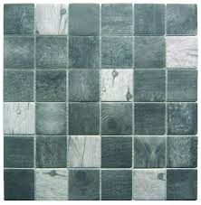 recycled glass wood look squares black