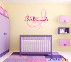 Owl Monogram Name Girls Nursery Room Vinyl Wall Decal Graphics