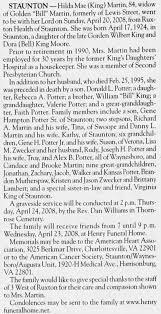 Hilda King Martin obit - Newspapers.com