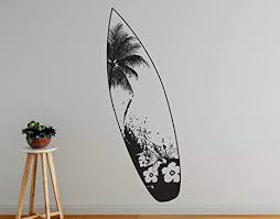 Amazon Com Stickerbrand Beach House Vinyl Wall Art Beach Paradise Surfboard Wall Decal Sticker Multiple Colors Available 74in X 20in Size Arts Crafts Sewing
