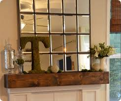 large multipanel mantel mirror