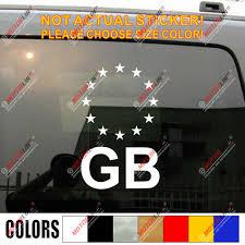 Gb European Union Flag Eu Uk British England Car Decal Sticker Ebay