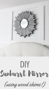 diy sunburst mirror using wood shims