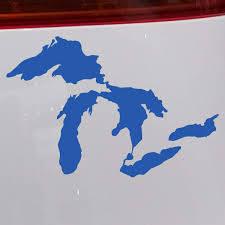 Amazon Com Great Lakes Of Michigan Premium Weatherproof Vinyl Car Decal Bumper Sticker Blue Standard Arts Crafts Sewing
