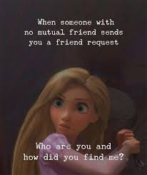 quotes nd notes when someone no mutual friend sends you a
