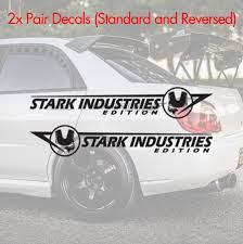 Buy 2x Side Iron Stark Industries Mask Helmet Edition Man Comic Superhero Hood Car Vinyl Sticker Decal