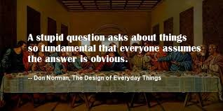 a stupid question asks about things so fundamental that everyone