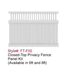 Astm Standard Picket Top Cheap Privacy Vinyl Fence Panels View Fence Panels Fentech Product Details From Linan Fentech Fence Products Co Ltd On Alibaba Com