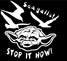 Yoda And Seagulls Vinyl Decal Sticker Etsy