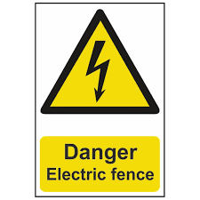 Danger Electric Fence Warning Sign