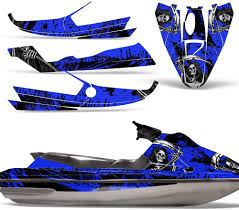 Amazon Com Wholesale Decals Jet Ski Graphics Kit Sticker Decal Compatible With Sea Doo Gts 1992 1997 Reaper V2 Blue Automotive