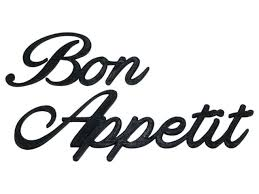 Bon Appetit Word Art Sign Decal Kitchen Wall Hanging Cursive Script Typography For Sale Online