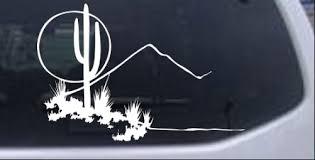 Western Cactus Luna Escena Calcomania Auto O Camion Ventana Laptop Decal Sticker Ebay