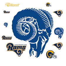 Los Angeles Rams Classic Logo Giant Officially Licensed Nfl Removable Wall Decal Los Angeles Rams Nfl Los Angeles La Rams