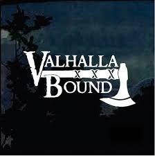 Valhalla Bound Military Window Decal Stickers Custom Sticker Shop