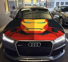 Iron Man Bust Full Color Hood Graphics Vinyl Wrap Fit Any Car Ebay