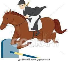 Vector Clipart Girl Teen Equestrian Horse Vector Illustration Gg78145968 Gograph