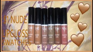 1 missa lipgloss swatches s he